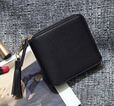 Top quality Square women coin purses holders wallet,leather female money designer tassel wallets famous brand women wallet - Hespirides Gifts - 3