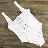 NEW White Black Red bandage one piece swimsuit strappy one piece swimwear sexy bathing suit vintage white monokini - Hespirides Gifts - 4