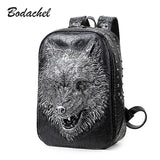 new stylish backpacks 3D wolf head backpack special cool shoulder bags for teenage girls PU leather laptop school bags - Hespirides Gifts - 1