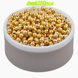 Hot Sale Charms Gold & Silver Plated Alloy Space Loose Beads DIY Bracelets & Necklaces Accessories 3 4 5 6 8 mm - Hespirides Gifts - 3
