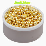 Hot Sale Charms Gold & Silver Plated Alloy Space Loose Beads DIY Bracelets & Necklaces Accessories 3 4 5 6 8 mm - Hespirides Gifts - 10