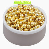 Hot Sale Charms Gold & Silver Plated Alloy Space Loose Beads DIY Bracelets & Necklaces Accessories 3 4 5 6 8 mm - Hespirides Gifts - 5
