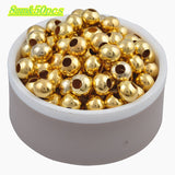 Hot Sale Charms Gold & Silver Plated Alloy Space Loose Beads DIY Bracelets & Necklaces Accessories 3 4 5 6 8 mm - Hespirides Gifts - 2