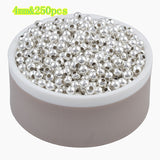 Hot Sale Charms Gold & Silver Plated Alloy Space Loose Beads DIY Bracelets & Necklaces Accessories 3 4 5 6 8 mm - Hespirides Gifts - 6