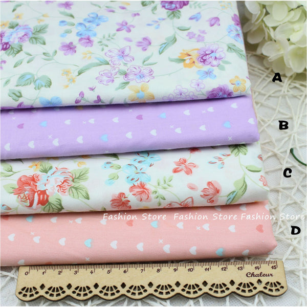 Flower Printed Fabric cushion Cloth fabric bedding Sheet Cotton Fabric Sewing For patchwork FARBIC Cloth 40 *50 cm - Hespirides Gifts