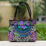 National Trend Women Bags Handmade Double Faced Flower Embroidered Canvas Embroidery Ethnic Shoulder Bags Handbag - Hespirides Gifts - 7
