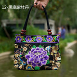 National Trend Women Bags Handmade Double Faced Flower Embroidered Canvas Embroidery Ethnic Shoulder Bags Handbag - Hespirides Gifts - 13