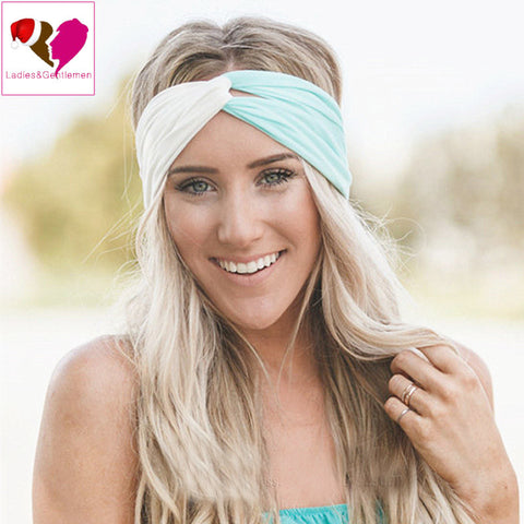 Twist Turban Headband for Women Hair Accessories Stretch Hairbands Girls Headwear Sport Headbands Yoga Head Wrap Band Bandana - Hespirides Gifts - 1