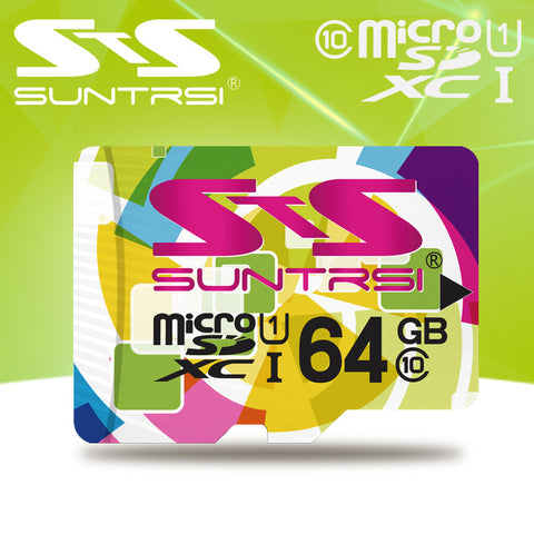 Suntrsi Micro sd Card Customize Logo Microsd High Speed Microsd 32GB Class 10 Memory Card Phone Tablet Real Capacity TF Card - Hespirides Gifts