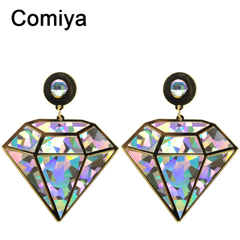 Comiya new geometric shape steampunk hip hop women drop earrings brincos de ouro bijoux femme wholesale earrings fashion - Hespirides Gifts