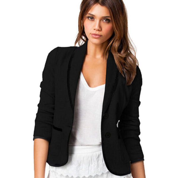 New Spring Women Clothes Women Blazer Fashion Casual Women Blazer Single Breasted Long Sleeve Small Suit S20116 - Hespirides Gifts - 3