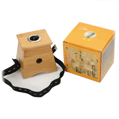 Monocular moxibustion box bamboo moxibustion box appliance wood bamboo moxa burner acupuncture massage device - Hespirides Gifts
