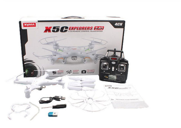 SYMA X5C 2.4G 4CH 4-Axis Aerial RC Helicopter Quadcopter Toys Gyro & 2.0MP Camera Remote Control UFO Quad Copter
