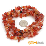 "Chips shape natural stone beads :Red Carnelian Red Coral Prehnite Lemon Stone Indian Agate Amazonite Strand 34"" - Hespirides Gifts - 13"