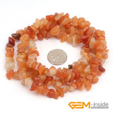 "Chips shape natural stone beads :Red Carnelian Red Coral Prehnite Lemon Stone Indian Agate Amazonite Strand 34"" - Hespirides Gifts - 11"