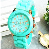 Relojes mujer 2016 Fashion Geneva Watch Women Ladies Quartz Watch Silicone Strap relogio feminino Wristwatch Dress Women Watches - Hespirides Gifts - 1