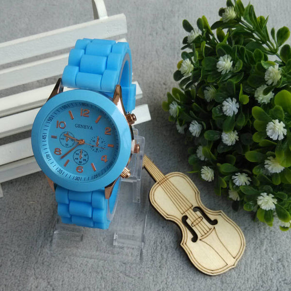 Relojes mujer 2016 Fashion Geneva Watch Women Ladies Quartz Watch Silicone Strap relogio feminino Wristwatch Dress Women Watches - Hespirides Gifts - 5