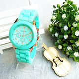Relojes mujer 2016 Fashion Geneva Watch Women Ladies Quartz Watch Silicone Strap relogio feminino Wristwatch Dress Women Watches - Hespirides Gifts - 6