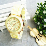 Relojes mujer 2016 Fashion Geneva Watch Women Ladies Quartz Watch Silicone Strap relogio feminino Wristwatch Dress Women Watches - Hespirides Gifts - 2