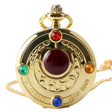 Famous Fashion Colorful Anime Sailor Moon Series Gift Women Lady Girl Pocket Watch P384 - Hespirides Gifts - 2