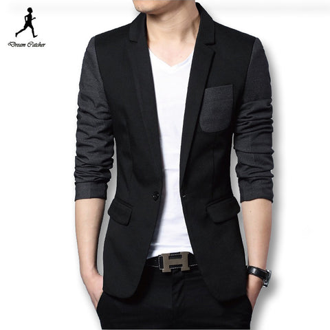 New Men Coats Blazers Jackets Dress Suits Men's Casual Fashion Slim Fit Large Size Long Sleeved Single Button Style Blazers - Hespirides Gifts - 1