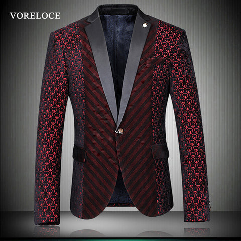 Men's woolen cloth coat Blazers casual all-new autumn and winter fashion Slim suit a buckle high quality luxury men's 8699 - Hespirides Gifts - 1