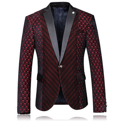 Men's woolen cloth coat Blazers casual all-new autumn and winter fashion Slim suit a buckle high quality luxury men's 8699 - Hespirides Gifts - 2