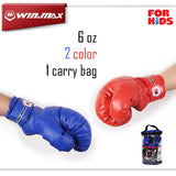 WINMAX New Arrivals Boxing Series with Nice Carry bag Kids Children Teenagers PU Leather 6 oz Boxing Gloves - Hespirides Gifts - 1