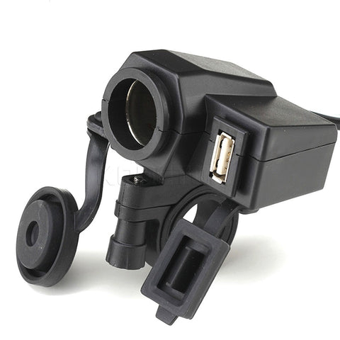 New Waterproof power socket usb for motorcycle Motorbike 12 V Cigarette Lighter 5V USB Power Port Adaptor Outlet Charger - Hespirides Gifts