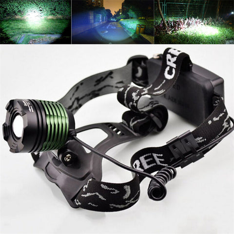 New 2000 Lumen XM-L T6 LED Zoomable Headlight Head Torch Lamp Headlamp Flashlight 3-modes Camping Fishing Climbing lamp - Hespirides Gifts