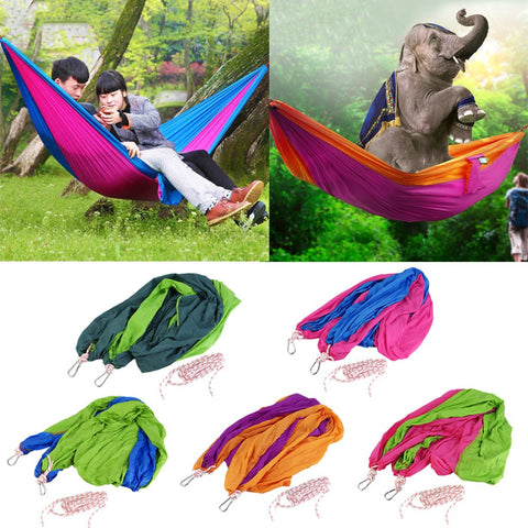 Double Hammock Camping Survival Hammock Parachute Cloth Portable appro 250x140cm - Hespirides Gifts