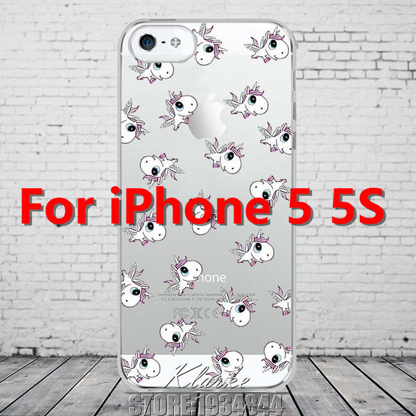 Cute Cartoon Unicorn Phone Cases Cover For iPhone 5 5s SE Soft TPU Protective Coque Fundas - Hespirides Gifts - 5