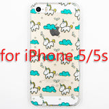 Cute Cartoon Unicorn Phone Cases Cover For iPhone 5 5s SE Soft TPU Protective Coque Fundas - Hespirides Gifts - 4