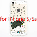 Cute Cartoon Unicorn Phone Cases Cover For iPhone 5 5s SE Soft TPU Protective Coque Fundas - Hespirides Gifts - 3