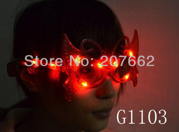 LED flash glasses led butterfly eyeglasses fashion decorative glasses For Christmas Haloween Party - Hespirides Gifts