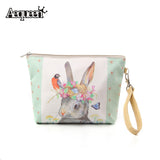 New Big Size Women Make Up Bags Flower Floral Canvas Zipper Cosmetic Case Simple Casual Girl Lady Pouch Storage Travel Organizer - Hespirides Gifts - 1