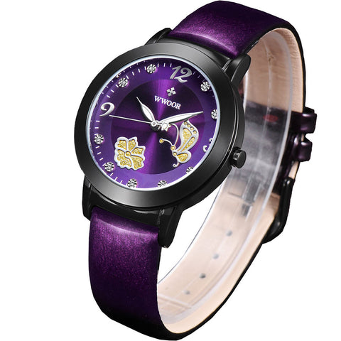 Buy women watches brand wwoor fashion quartz watch women 39 s clock relojes mujer dress ladies for Watches brands for lady