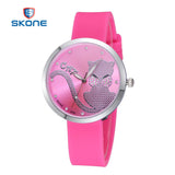 SKONE Cartoon Women Watch Luxury brand Fashion Girls Ladies Quartz Watch Women Clock Rubber Wristwatch Relogio Feminino - Hespirides Gifts - 1