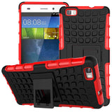 Huawei P8 Lite Case TPU & PC Dual Armor Cover with Stand Holder Hard Silicone Armor Cover Shock Proof Anti-Skid Combo Back Case - Hespirides Gifts - 8