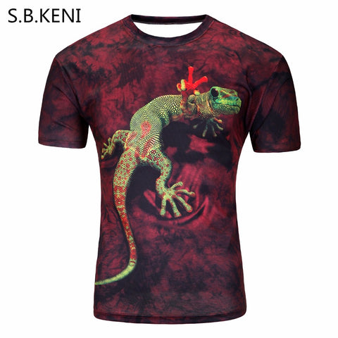 2017 Hot selling New fashion Men's 3D apple/tree printing t shirt summer short sleeve t shirts tops plus size free shipping