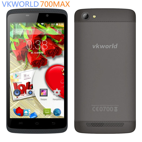 "Original Vkworld VK700 MAX 5.0"" IPS I280X720 Android 5.1Smart phone MTK6580 Quad Core 1GB RAM 8GB ROM WCDMA GPS 3G Mobile Phone - Hespirides Gifts"