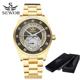 SEWOR Top Brand Men Skeleton Mechanical Men Fashion Stainless Steel Watch Automatic Watch Classic Wristwatches For Men Dress - Hespirides Gifts - 8