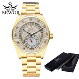SEWOR Top Brand Men Skeleton Mechanical Men Fashion Stainless Steel Watch Automatic Watch Classic Wristwatches For Men Dress - Hespirides Gifts - 6