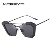 MERRY'S New Sunglasses Women Cat Eye Classic Brand Designer Twin-Beams Sunglasses Sun Glasses For Women S'8028 - Hespirides Gifts - 1