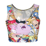 Summer Style Digital Print Adventure Time Bro Ball Reversible T-shirts Fitness Women Tops Sleeveless Fashion T shirt B029 - Hespirides Gifts - 1