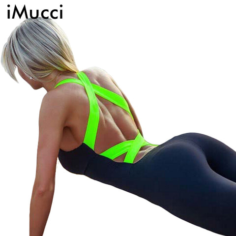 Fitness Sport Jumpsuit Women Rompers Summer Sexy Backless Bandage Elasticity One-piece Skinny Bodysuit Women Playsuit Overalls - Hespirides Gifts - 1