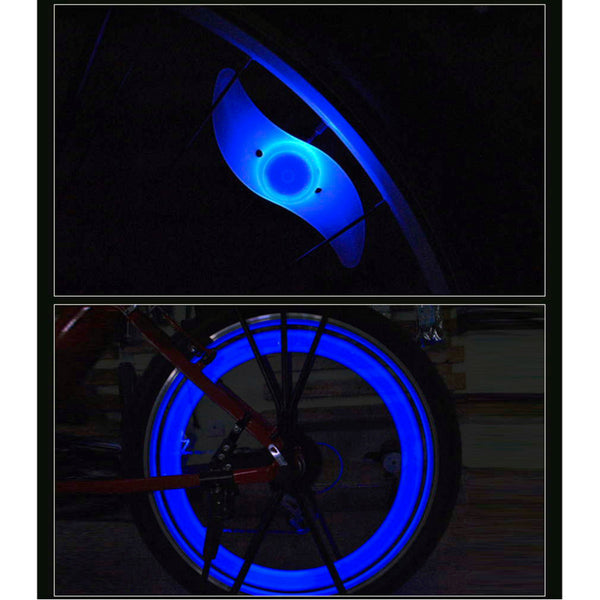Sales promotion Arrival blue Bicycle Silicone Wheel Spoke Tyre LED Bright Light Bike Lamp Water Resistantwholesale - Hespirides Gifts