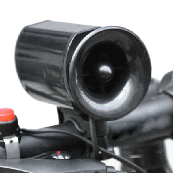 Sales Promotion New Loudly 6 sound loop Black Bicycle Electronic Bell Alarm Siren Horn Loud Speaker wholesale - Hespirides Gifts