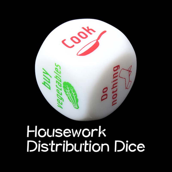Cute Familiy Housework Dice Division of Housework Dice Funny Couples Families Game Dice Fun BHU2 - Hespirides Gifts