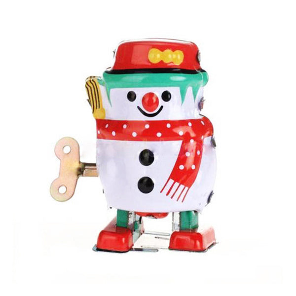 Snowman Funny Classic Toys New Arrival Lovely Vintage Wind Up Tin Toy Clockwork Spring Toys For Children - Hespirides Gifts